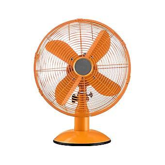 Fusion Living Bright Orange Oszillierenden Metall Schreibtisch Fan