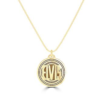 Elvis Presley Polished Record Name During In 14K Yellow Gold