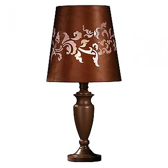 Premier Home Valencia Feature Lamp, Suede, Brown