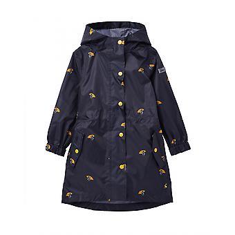 Joules Junior Golightly Packaway Veste imperméable à l'eau - Canards Parapluie