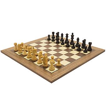 The Antiqued British Staunton and Walnut Deluxe Chess Set
