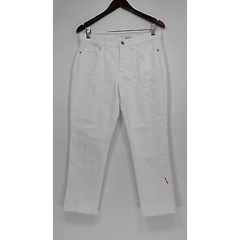 Denim & Co. Women's Petite Jeans 8 Studio Classic Denim White A304477