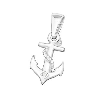 Anchor-925 Sterling Silver jewelled pingentes-W19165X