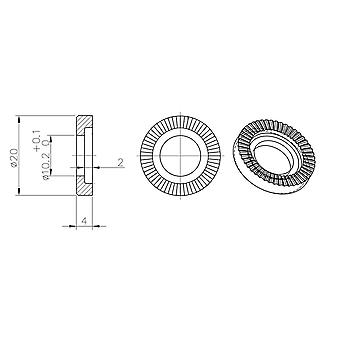 Halo Butch Axle Washers 10mm Pair