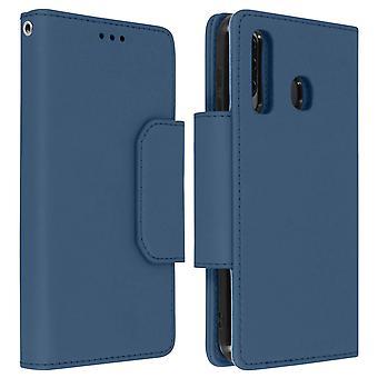 Funda de cartera desmontable magnética para Samsung Galaxy A50 - azul oscuro