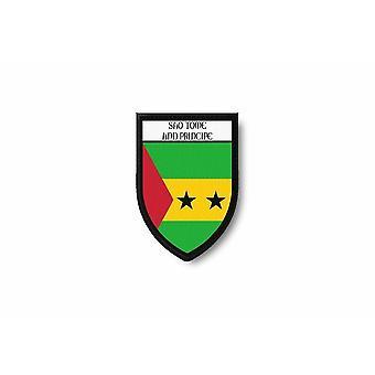 Patch Ecusson Termocollant Bord Brode Drapeau Imprime Sao Tome Principe