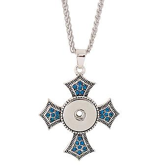 Stainless steel necklace with pendant for click buttons KC0307