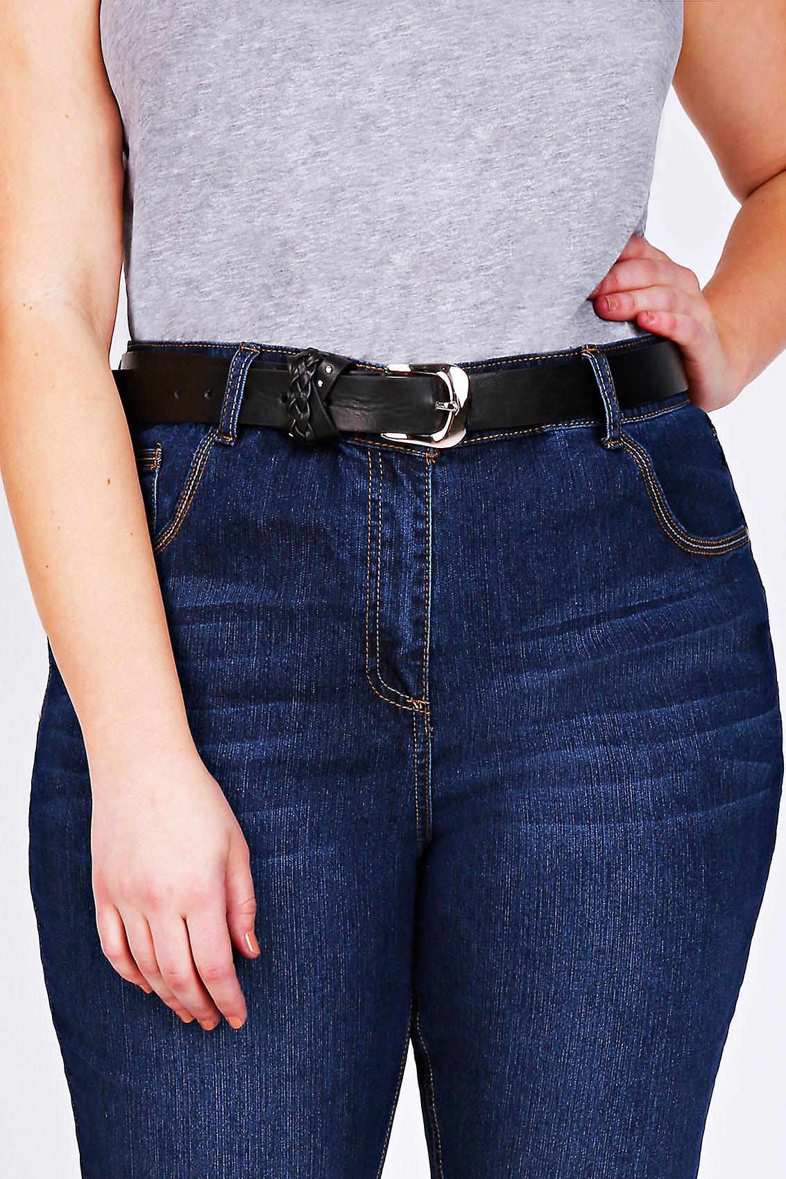 Svart Jean bälte