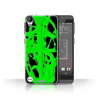 STUFF4 Case/Cover for HTC Desire 530/Green/Blob/Paint Splatter