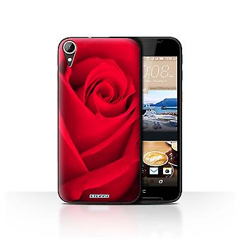 STUFF4 Case/Cover for HTC Desire 830/Red Rose/Floral Garden Flowers