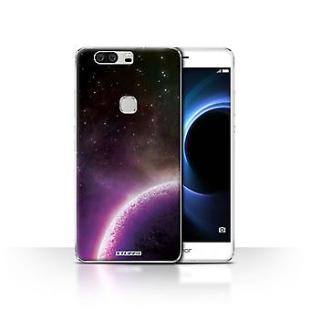 STUFF4 Case/Cover for Huawei Honor V8/Purple Planet/Space/Cosmos