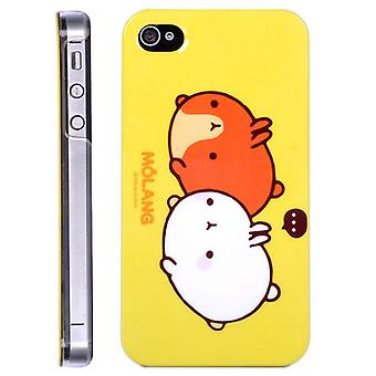 Cover twee zangvogels Molang hard plastic voor iPhone 4/4s