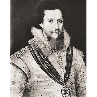 Noble Inglés de Robert Devereux 2do Earl de Essex 1565-1601 y el favorito de Isabel I después de un contemporáneo trabajo PosterPrint
