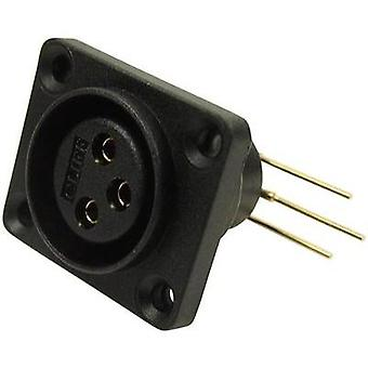 XLR connector Sleeve socket, right angle pins Number of pins: 3 Black Cliff CP30072 1 pc(s)