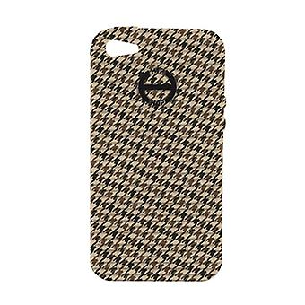 Hip Hop Cover Handyhülle Iphone 4 / 4s Pied de Poule HCV0088 marron glace