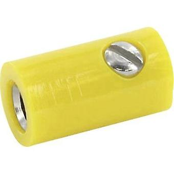 Jack socket Connector, straight Pin diameter: 2.6 mm Yellow econ connect HOKGE 1 pc(s)