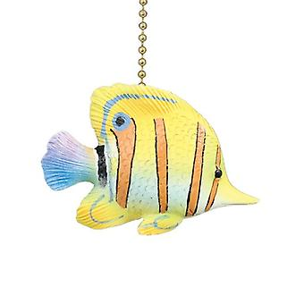 Tropical Yellow Angel Fish Ceiling Fan Light Pull
