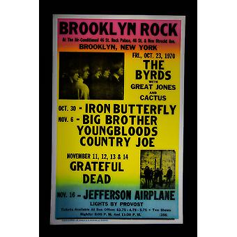 Cartel de concierto retro Rock de Brooklyn