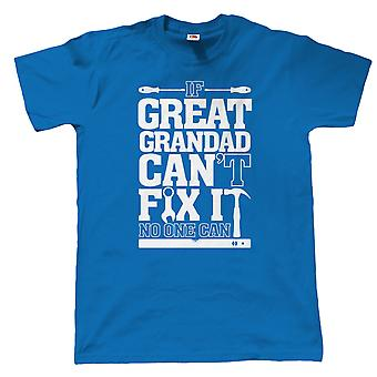 Vectorbomb, If Great Grandad Can't Fix It, No One Can, Mens Funny T Shirt (Various Colours)