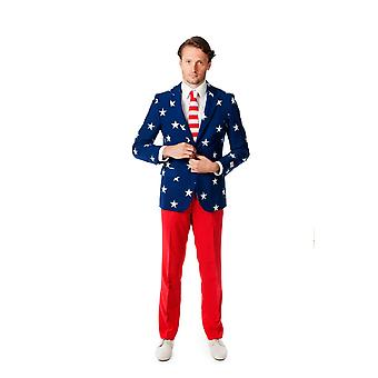 USA stars and stripes America Opposuit slimline Premium 3-piece suit