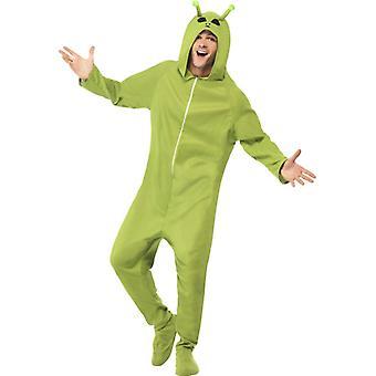 Alien drakt grønne kjeledress av alien Alienkostüm