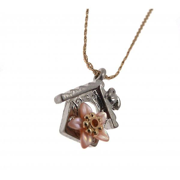 W.A.T Small Bird Box Pendant Necklace