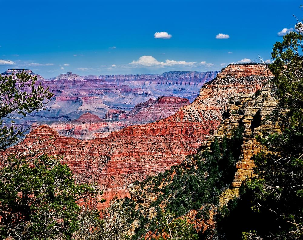 Elevated view of the rock formations in a canyon Yavapai Point South Rim Grand Canyon National Park Arizona USA Poster Print by Panoramic Images (28 x 22)