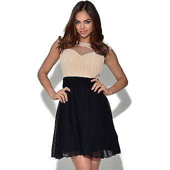 Little Mistress Fit And Flare Embellished Dress