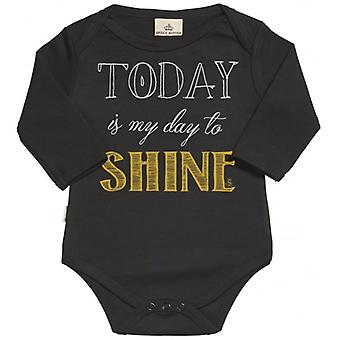 Spoilt Rotten Today Shine Organic Babygrow In Gift Milk Carton