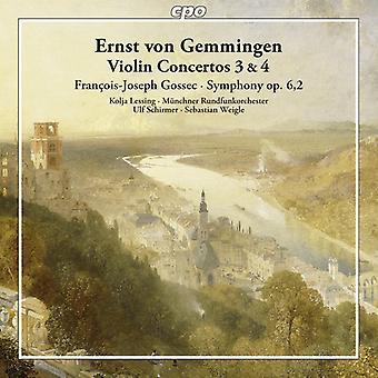 Von Gemmingen / Lessin / Muenchner Rundfunkorch - concerti per violino n. 3 & 4 [CD] USA import