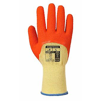 Portwest - Palm Grip Xtra Latex getaucht Greifer Handschuhe Pack 12