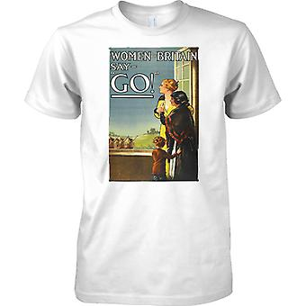 WW2 US Military Propoganda Poster - Women Of Britain - Kids T Shirt
