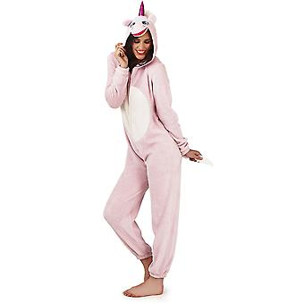 Loungeable, Ladies Luxury 3D Unicorn All In One Jumpsuit Onesie, Pink