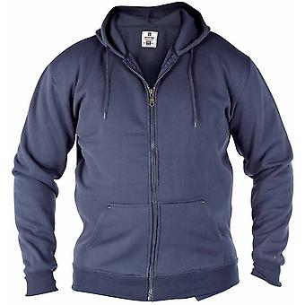 Duke Mens Rockford Kingsize Cantor Zip Through Hooded Sweatshirt