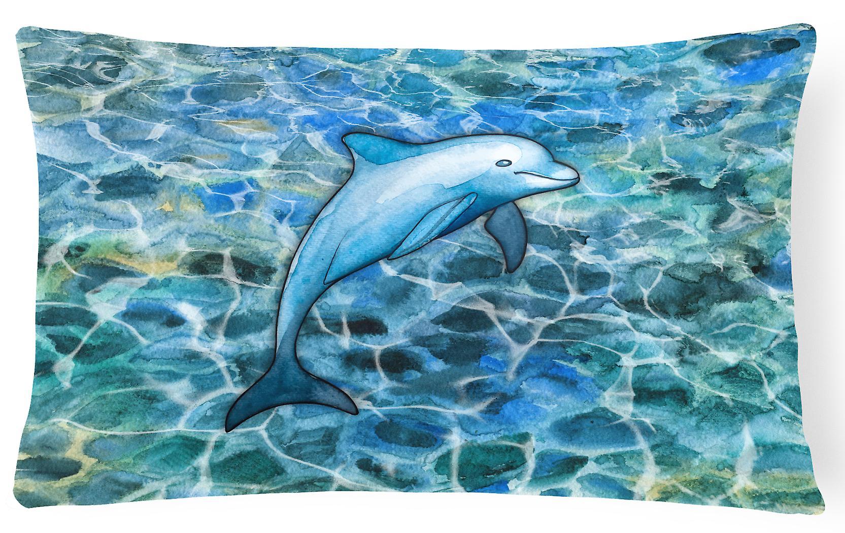 Dolphin Des Tissu Toile Carolines Trésors Bb5356pw1216 Décoratif Oreiller 8O0PwXnk