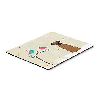 Christmas Presents between Friends Brindle Boxer Mouse Pad, Hot Pad or Trivet