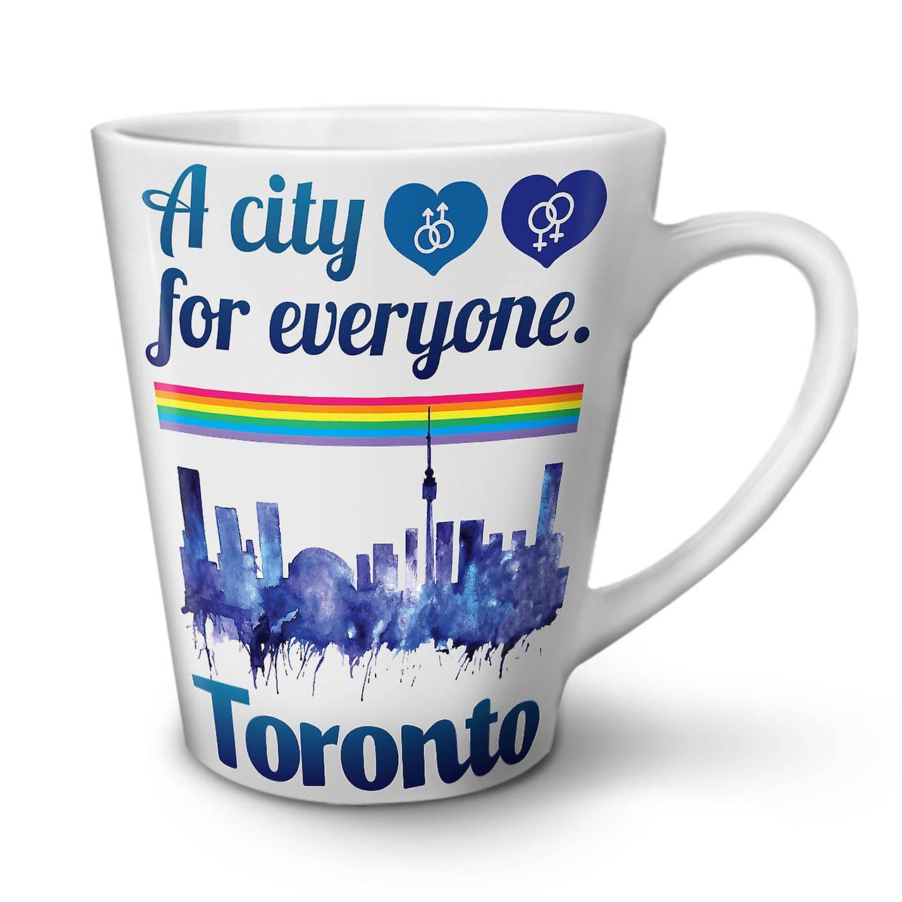 Pride Thé Blanc Latte Toronto Mug 12 OzWellcoda En Café Céramique Amour Nouveau lwkuiTOXPZ