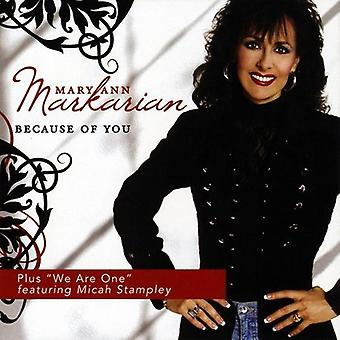 Mary Ann Markarian - Because of You [CD] USA import