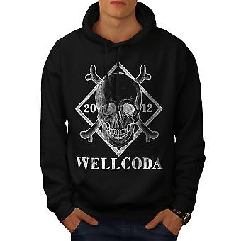Crâne de Wellcoda hommes BlackHoodie | Wellcoda