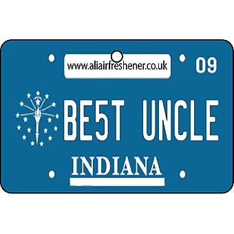 Indiana - Best Uncle License Plate Car Air Freshener