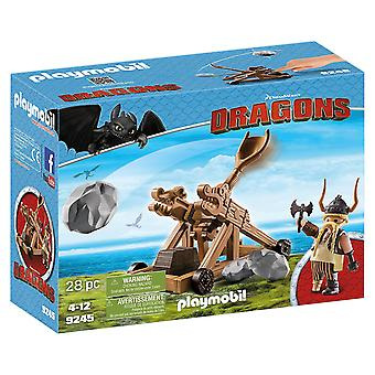 Playmobil 9245 Dragons Gobber with Catapult