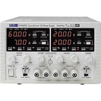 Bench PSU (adjustable voltage) Aim TTi CPX400DP 0 - 60 Vdc 0 - 20 A 840 W GPIB, LAN, LXI, RS232, USB No. of outputs 2
