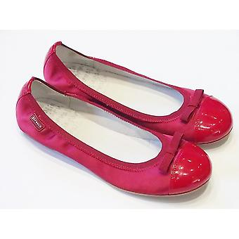 Garvalin Red Patent Leather And Satin Slip On Shoes