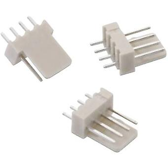 Built-in pin strip (standard) WR-WTB Total number of pins 4 Würth Elektronik 61900411121 Contact spacing: 2.54 mm 1 pc(s