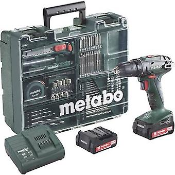 Metabo BS 14.4 Cordless drill 14.4 V 2 Ah Li-ion incl. spare battery, incl. accessories, incl. case