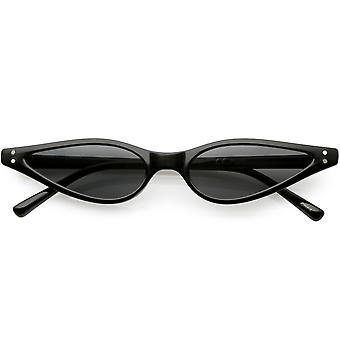 Ekstremalne cienkie kot oko okulary kolorowe neutralne płaski obiektyw 53mm