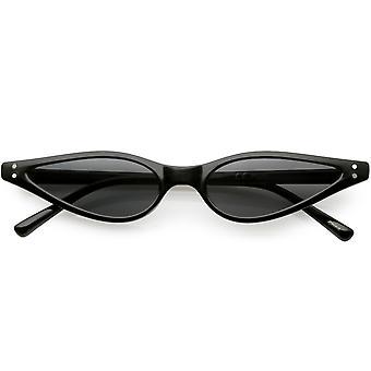 Extrem dünne Katze Sonnenbrille Neutral farbige flache Augenlinse 53mm