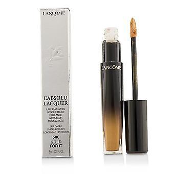 Lancome L'absolu Lacquer Buildable Shine & Color Longwear Lip Color - # 500 Gold For It - 8ml/0.27oz