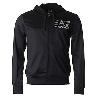 Ea7 Train Visibility Poly Hooded Zip Sweat