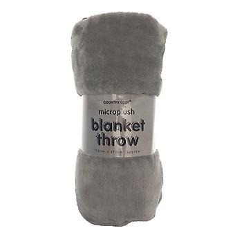 Country Club Pom Pom Blanket, Grey